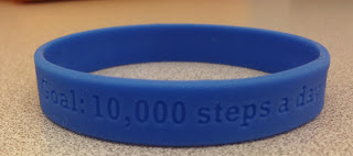 Bracelet with walking steps goal