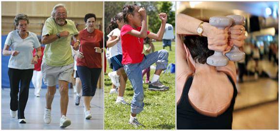 Senior fitness activities